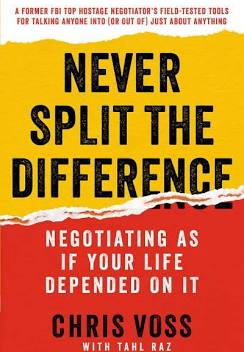 never split the difference book by Chris voss cover